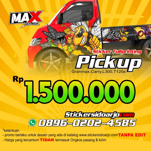 Sticker granmax Pickup